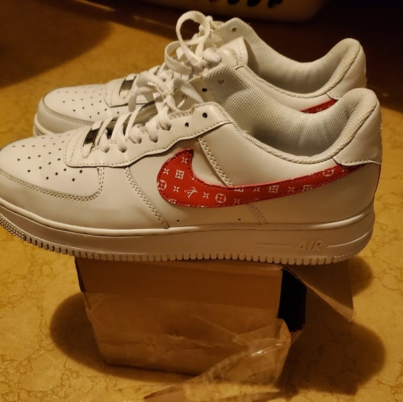Nike Other - Nike Airforce 1's customs. White and red size 11